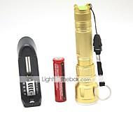 LT-SLB832 3 Modes 1xCree XPE Q5 Daily Use Led Flashlight(500LM.1x18650.Golden)