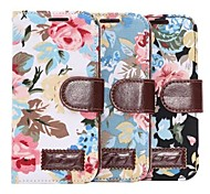 Flower PU Leather with Strap Case for HTC One M8 Mini
