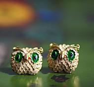 Beautiful Popular Owl Lovely Lady Stud Earrings