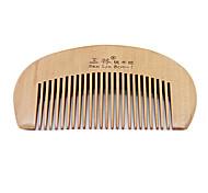 1 Pcs Lovely Bag Children Baby Peach Wooden Hair Comb