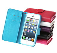 Fashionable and Novel Cowhide Leather Full Body Case for iPhone 5/5S (Assorted Colors)