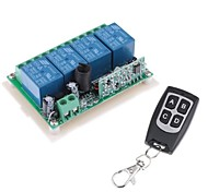 12V 4-Kanal Wireless Remote Power Relay-Modul mit Fernbedienung (DC28V-AC250V)