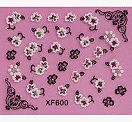 10PCS Flower Design 3D tempestato di diamanti Adesivi Nail Art