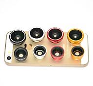 Magnético 3 em 1 lente grande angular, Lente Macro e 180 Fish Eye Lens Kit Set para iPhone / iPad e outros (cores sortidas)