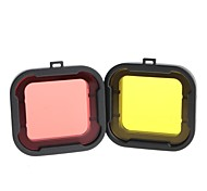 Gopro Accessories Smooth Frame For Gopro Hero 3 / Gopro Hero 3+ ABS Red / Yellow