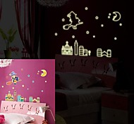 Doudouwo®  People The Moon Girl Luminous Wall Stickers