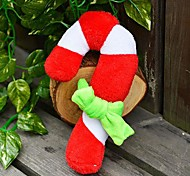 Christmas Party Plush Squeaking Toy for Pets Dogs(Christmas crutches)