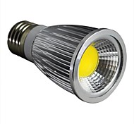 7W E26/E27 Focos LED 1 COB 600LM lm Blanco Cálido Regulable AC 100-240 V