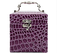 1 Pcs Jewelry Box Makeup Box Crocodile Hand In Three Layers Of Leather Jewelry Box
