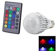 5W E26/E27 LED Kugelbirnen 1 Integriertes LED 300-500 lm Ferngesteuert AC 100-240 V