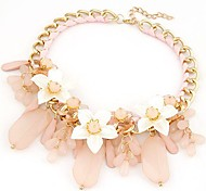 Jelly-colored Wild Flowers Droplets Metal Necklace