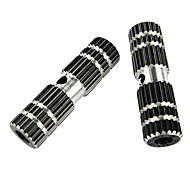 V.N.S 1 Pair BMX Bike Aluminum Alloy Rear Front Axle Black Solid Foot Pegs