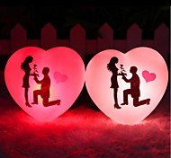 Love Shaped Plastic Night Light (Random  Colorx1pcs)