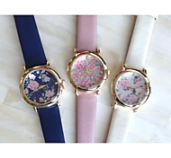 Women Watch Sweet Partysu Vintage Rose Leather Quatz Watch Assorted Colors D0249