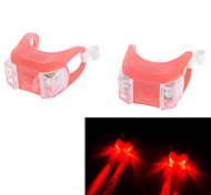 Excellent Silicone LED Safety Flash Light 3-Modes Super Bright Red Lamp for Bicycle