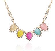 Fashion Diamond Eye Drops  Pendant Necklace