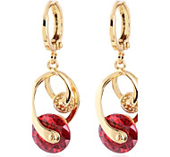 Women's Fashion Romantic Design 18K Gold Plated Zircon Earrings