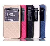5.5 Inch Stripes Pattern with Windows Wallet Leather Case  for iPhone 6 Plus (Assorted Colors)