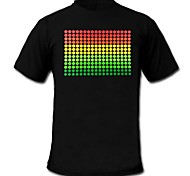 Mens Light Up LED T-shirt Sound and Music Activated Equalizer for Party Bar Raver