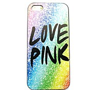 Love Pink Pattern Hard Case for iPhone 5/5S