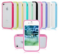 TPU Bumper & Hard PC Back Case for iPhone 4/4S (Assorted Colors)