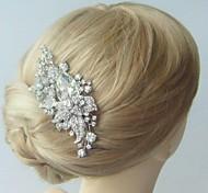 lega dell'annata delle donne con i capelli da sposa cristallo fiore strass copricapo da sposa pettine