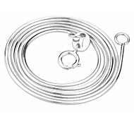 Silver Chain Necklaces Sterling Silver Wedding / Party / Daily / Casual Jewelry