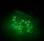 árbol de navidad xinyuanyang® forma 0.8w 100lm 20-0603 SMD LED verde luz de la secuencia flexible (3 x AA / 200cm)