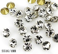 36PCS 4MM Glitter Crystal Rhinestone Nail Art Decoration
