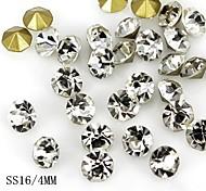 36pcs brilho de cristal 4 milímetros arte strass decoração de unhas