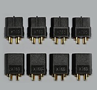 Black XT60 Connectors Male and Female 5 pairs/Bag