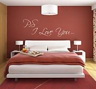 JiuBai™ I Love You Quote Art Wall Sticker Wall Decal