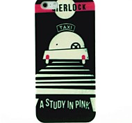 Lovely Taxi Pattern Hard Case for iPhone 4/4S
