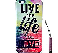 Live the Life You Love Pattern Hard Case & Touch Pen for iPhone 4/4S