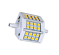 R7S 5W 24 SMD 5050 330lm LM Warm White / Cool White T LED Corn Lights AC 85-265 V