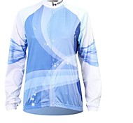 XINTOWN Men 's Blu-ray Breathable Polyester Long Sleeve Cycling Jersey—Blue