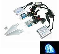 12v 35w H4-2 10000k escondió kit de conversión de la lámpara de xenón de conjunto con el soporte de montaje (hiper lastre plata delgado)