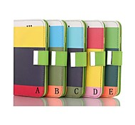 5.5 Inch Nappa Patch Pattern Wallet Leather Case  for iPhone 6 Plus(Assorted Colors)