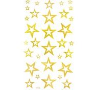 2Pcs Stars Hollow  Gold Glitter Tattoo Stickers Temporary Tattoos