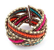 Vintage Bracelet Acrylic Beads Weave Bracelet (Random Color)