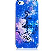 Fluorescence Color Anchor Pattern Black Frame Back Case for iPhone 4/4S