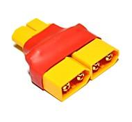 No Wires Connectors/Plug 1 Male XT60 to 2 Female XT60 Across (10PCS/Bag)