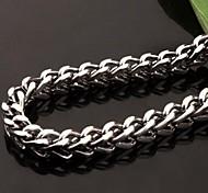 Z&X®  Men's Fashion  Personality Very Long Square Titanium Steel Necklaces