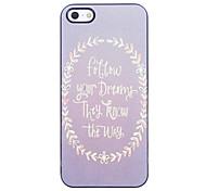 Follow You Dreams Design Aluminium Hard Case for iPhone 4/4S