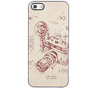 Hard Case Appareil Photo Vintage Design Aluminium pour iPhone 5/5S