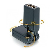 HDMI HD 360 Swivel Adjustable Rotating Male to Female Adapter Port Dongle