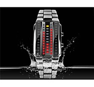 KMEI 1013 Stylish Unisex 30M Water Resistant Rectangle Zinc Alloy LED Electronic Wrist Watch Sport Watch