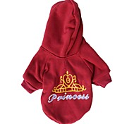 Cat / Dog Hoodie Red Winter Tiaras & Crowns