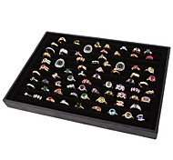 Classic Nice Big Size Ring Stand Black Paper Acrylic Flannelette Jewelry Boxes(1 Pc)