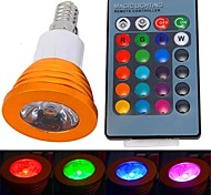 3W E14 LED Spot Lampen 1 High Power LED 180 lm RGB Ferngesteuert AC 85-265 V